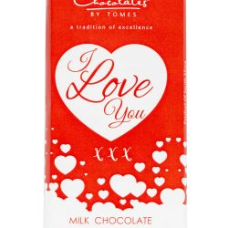 I love you chocolate is the perfect gift to give because you can express your love to anyone. This artisan milk chocolate is smooth and creamy.