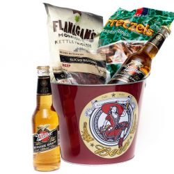 Beer and Ice Bucket Hamper