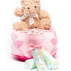 Nappy Cake Small Pink