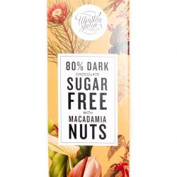 This Winston & Julia Sugar-Free 80% Dark Chocolate with macadamia nuts is made for those who are diabetic and people who are banting.