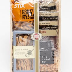 This savoury hamper contains biltong, dry wors, nuts and savoury snacks. This is a great gift for any occasion. Birthdays, Get Well Soon, Congratulations, Condolence, Celebration, Nationally.