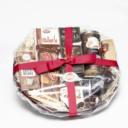This Chocolate Basket consists of various chocolates, biscuits and cocoa products. Perfect for those who love chocolate.