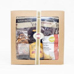 Bundaberg savoury hamper consists of ginger beer and assorted savoury snacks like biltong, crisps, pretzels and dried fruit. Birthdays, Congratulations, Get Well Soon,